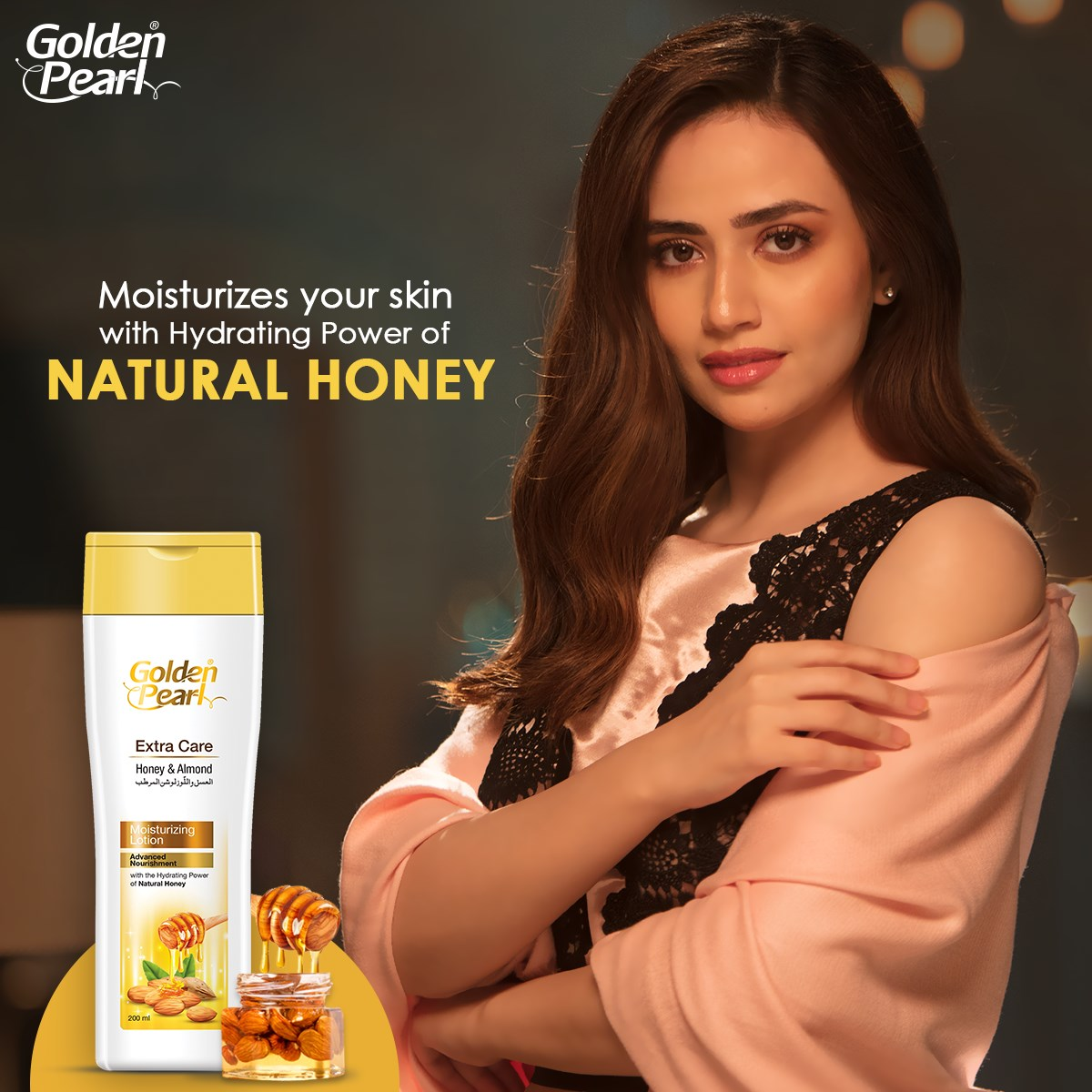 Golden Pearl Extra Care Honey & Almond Moisturizing Lotion 200ml