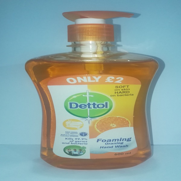 Dettol Foaming Oranging Hand wash 600ml