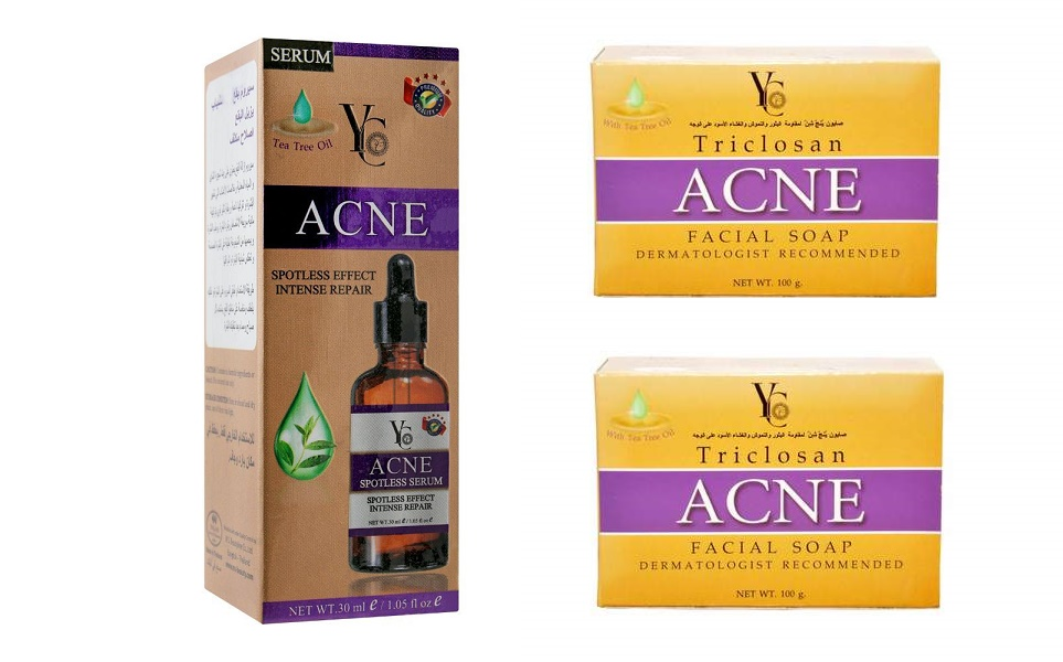 Yc Acne Soap Bar Triclosan & Acne Spotless Serum 30ml