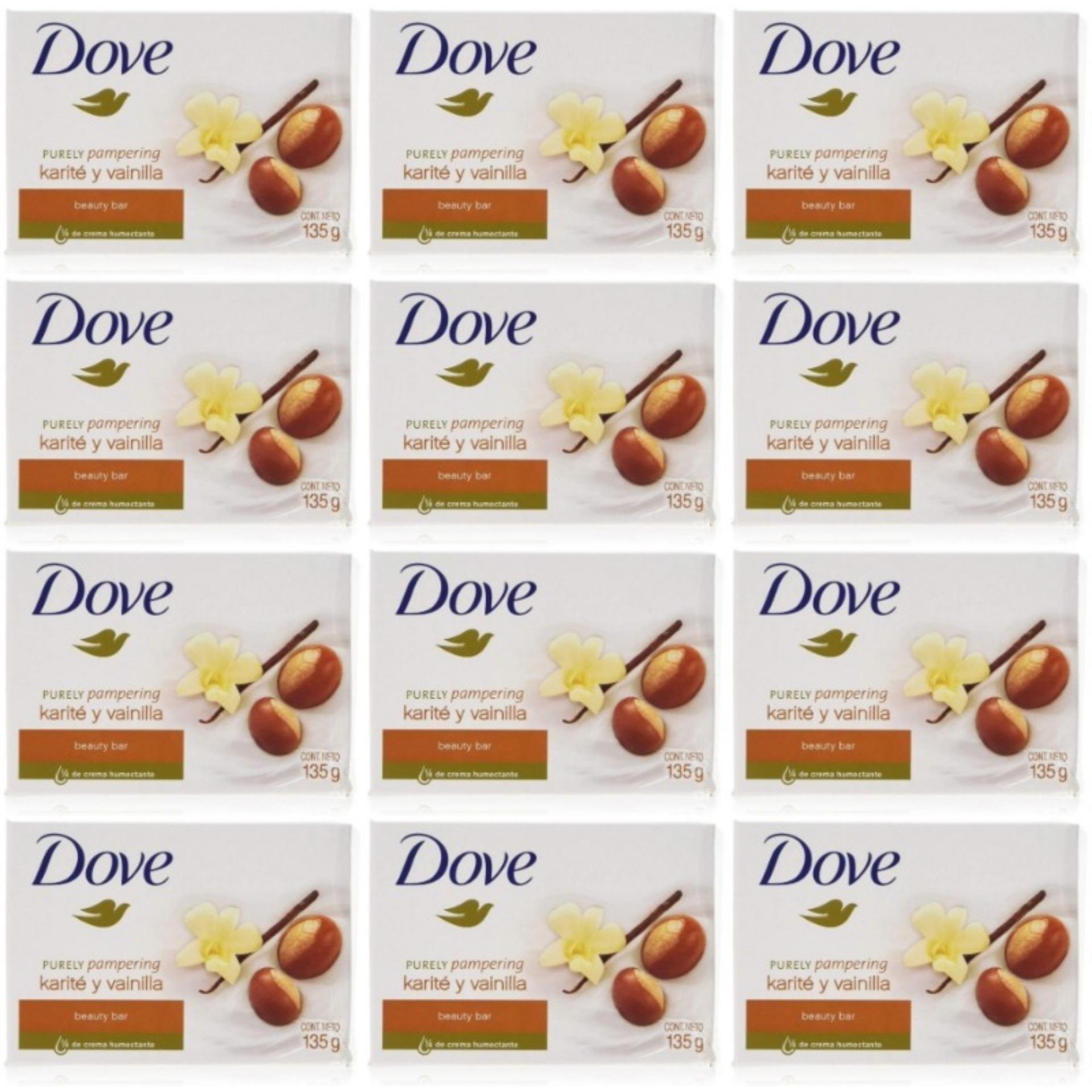 Dove Purely Pampering Soap 135 Gram (Pack of Twelve)