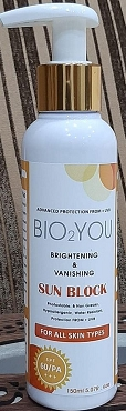 Bio2You Brightening & Vanishing Sun block