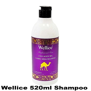 Wellice Collagen SPA Camel Milk Shampoo 520ml