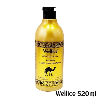 Wellice Safron Camel Milk Shampoo 520ml