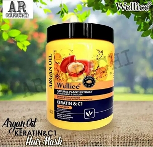 Wellice Argan Oil & Keratin Hair Mask 1000ml