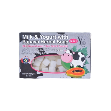 YC Milk and Yogurt with Papaya Herbal Soap 6 in 1 100Gm