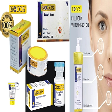Pack Of 5 Biocos Cream,Soap Serum,Biocos Body Lotion & Bio Facewash