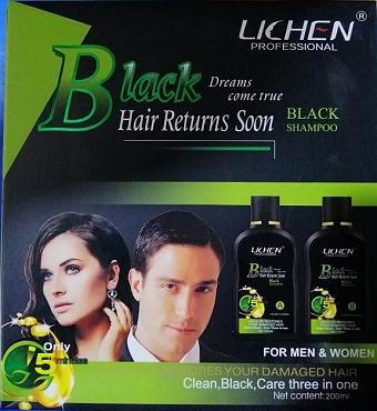 Lichen Professional Black Hair Return Soon Black Shampoo 200ml