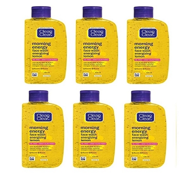 Clean & Clear Morning Energy Lemon Face Wash 100ml (Pack of Six)