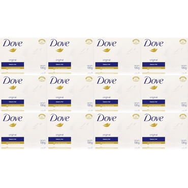 Dove Soap original white 135 Gram (Pack of Twelve)