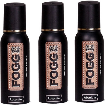 Fogg Absolute Body Spray 120ml (Pack of Three)