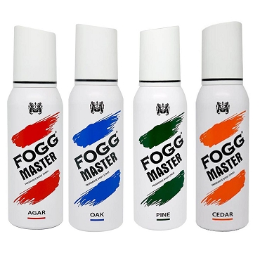 Fogg Master Agar Oak Pine & Cedar Body Spray 150ml (Pack of Four)