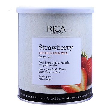 Rica Strawberry Liposoluble Wax For Dry Skin 800ml (Made in Italy)