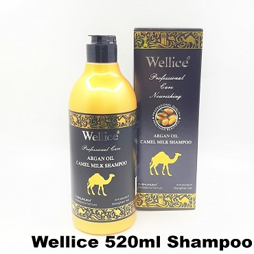 Wellice Argan Oil Camel Milk Shampoo 520ml