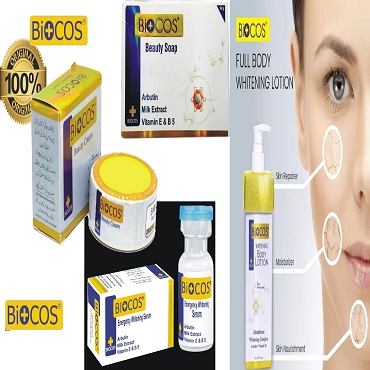 Pack Of 4 Biocos Cream,Soap Serum & Body Lotion