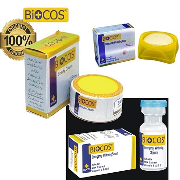 Pack Of 3 Biocos Cream,Soap and Serum