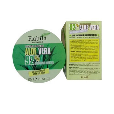 Aloe Vera 92% Moisturizing Beauty Gel Original Fiabila (Made in Thailand)