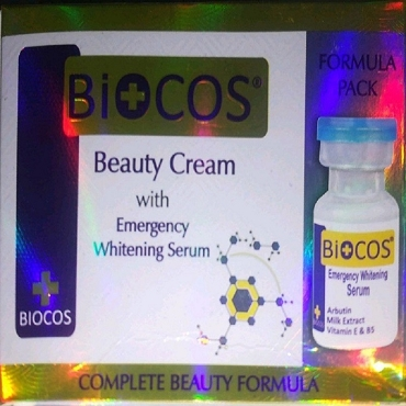 Biocos Emergency whitening cream with Serum