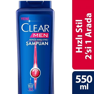 Clear Men Shampoo Fast Style 2in1 550 ml