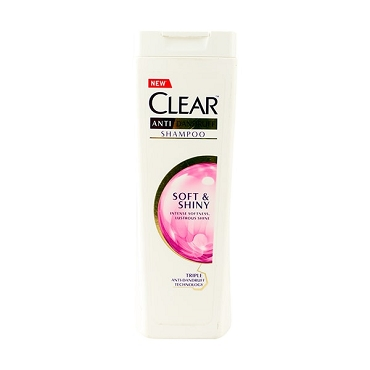 Clear Anti Dandruff Shampoo Soft & Shiny 400ml