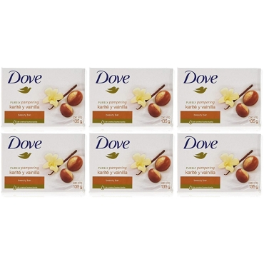Dove Purely Pampering Soap 135 Gram (Pack of Six)