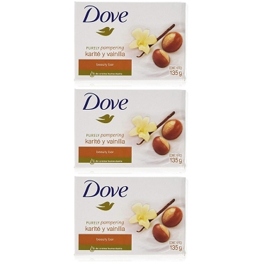 Dove Purely Pampering Soap 135 Gram (Pack of Three)