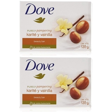 Dove Purely Pampering Vainilla Soap 135 Gram (Pack of Two)