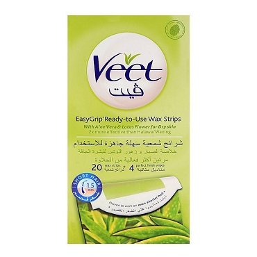 Veet Wax with Ready to use Hair Removal Strips 20 strips