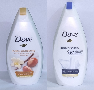Dove Body Wash Shea Buter & Deep Nourishing 500ml UK (Pack of Two)