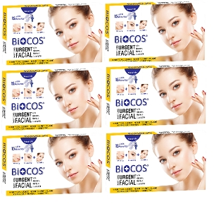 Biocos Urgent Whitening Facial (Pack of Six)