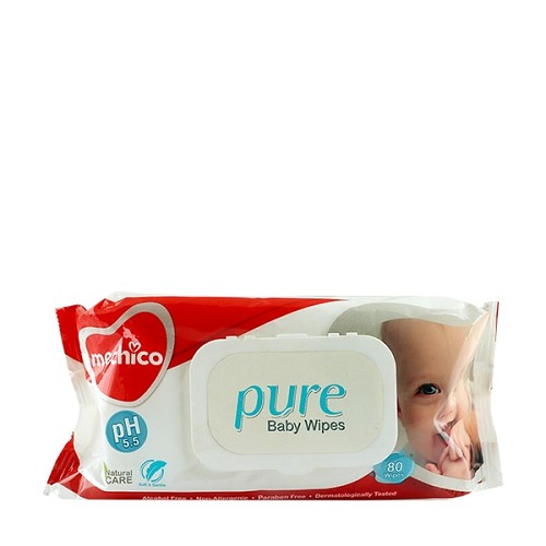 Mechico Pure Baby Wipes (Pack of 80 Wipes)