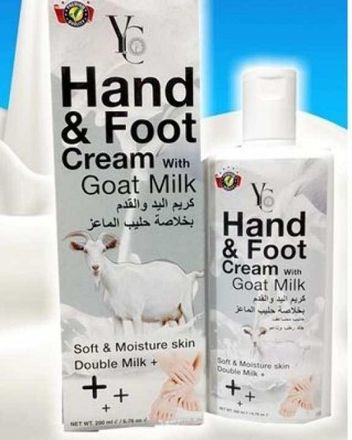 Yc Hand & Feet Cream With Goat Milk 200ml (Thailand)