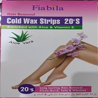 Fiabila Hair Removal Cold Wax Strips 20S